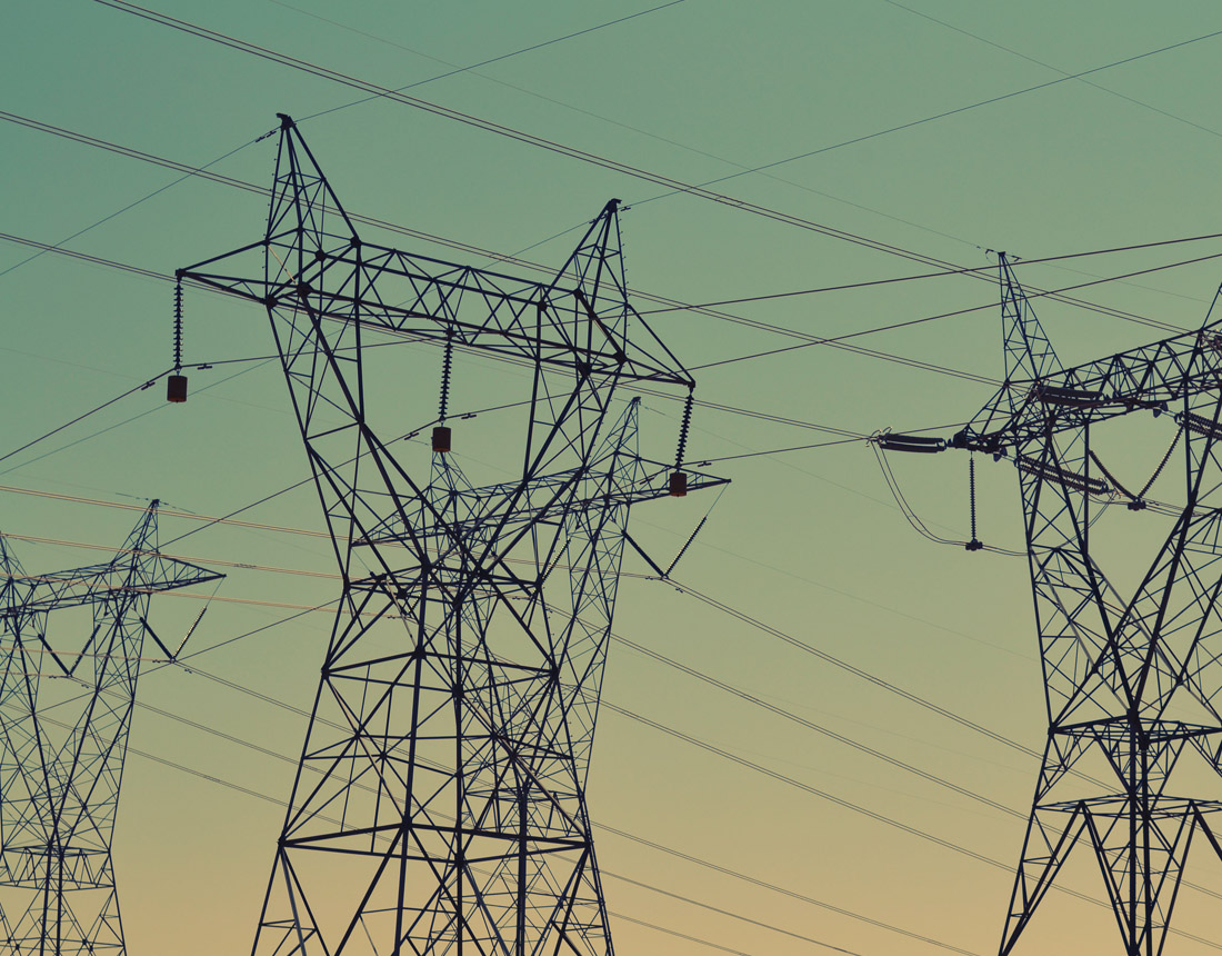 Powerlines at dusk, Blend ESQ Industry Consulting